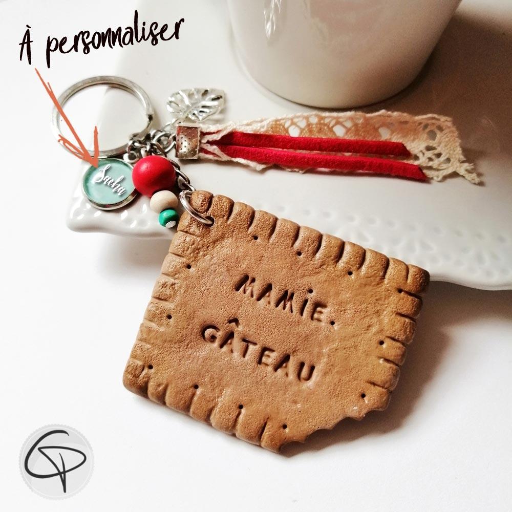 bijou de sac biscuit mamie gâteau personnalisable prénom petit-enfant
