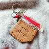 bijou de sac mamie gâteau Lu avec prénom dans médaillon cadeau original grand-mère