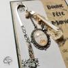Marque-page bijou argenté médaillon mamie en or cadeau fête grands-mères