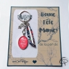 Porte-clef bonne fête des grands-mères modèle corail motifs liberty fleur