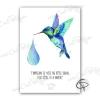 Affiche colibri personnalisée avec une citation originale