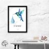 Illustration aquarelle morale du colibri je fais ma part avec cadre