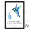 illustration colibri personnalisée avec une belle citation inspirante