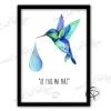 Affiche oiseau-mouche avec la légende du colibri de la forêt d'Amazonie