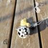 Sautoir bola de grossesse cage fleurie de couleur blanche