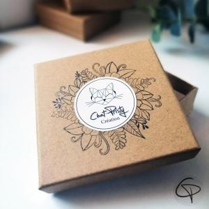 Emballage cadeau en kraft pour collier sautoir ou pendentif