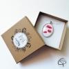 Boîte cadeau marron clair pour offrir un bijou fait main