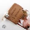 Faire-part de naissance mixte original avec un biscuit croqué fait main