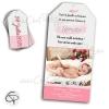 Annonce de naissance original pour fille avec faire-part flamant rose