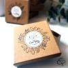 Boîte emballage cadeau artisanal pour bola de grossesse