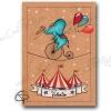 Affiche de naissance éléphant acrobate de cirque personnalisable garçon