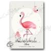 Affiche de naissance flamant rose personnalisé fille