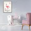 Décoration de chambre original fille avec une illustration flamant rose personnalisée