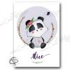 Cadeau de naissance original panda personnalisée pour une fille