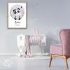 Décoration murale chambre fille poster panda personnalisable