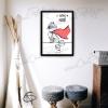 Affiche raton-laveur avec cadre cadeau naissance original décoration chambre