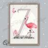 Poster de naissance à personnaliser avec l'initiale d'une fille cadeau original