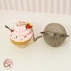 Boule à thé originale contrepoids infuseur à thé tisane cupcake cœur biscuit