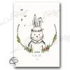Affiche de naissance fille personnalisée lapin romantique