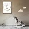 Affiche de naissance lapin décoration romantique chambre fille