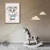 Affiche de naissance panda avec cadre personnalisable prénom garçon