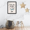 Illustration panda de créateur personnalisable décoration chambre enfant