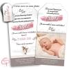 Faire-part naissance papier faon pour annoncer votre fille à toute la famille