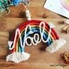 Arc-en-ciel fabriqué à la main en laine personnalisable du prénom de l'enfant
