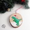 Décoration originale pour sapin de Noël avec dinosaure à personnaliser