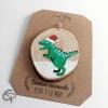 Boule de Noël tyrannosaure personnalisée d'un prénom de garçon ou fille