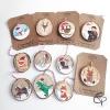 Décorations originales pour sapin de Noël peints artisanalement à la main