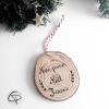 Décoration personnalisée pour sapin avec prénom du premier Noël de votre enfant