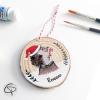 Décoration hérisson pour sapin de Noël personnalisable d'un prénom