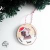 Boule originale de Noël avec mignon hérisson pour premier Noël de votre enfant