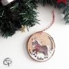 Suspension pour sapin de Noël avec un poney à personnaliser prénom d'enfant
