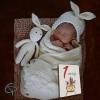 Cartes étapes original avec illustration renardeau de créateur pour mettre la photo du bébé