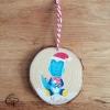 Petite galette en bois pour décorer le sapin avec votre choix de dessin personnalisé