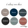 6 coloris d'affiches au choix