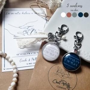 Porte-clefs originaux positions satellite cadeaux anniversaire couple