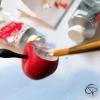Pendentif pomme déjà croqué modelé à la main pour créer un bijou original pour femme