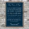 Poster règles de vie chez mamie et papi avec texte personnalisable fond couleur encre