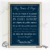 Cadre original avec phrases personnalisées chez mamie et papy papier colori bleu marine