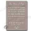 Règles de vie personnalisées chez mamie et papi sur poster original de couleur taupe