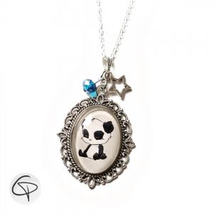 Collier original pour enfant avec panda