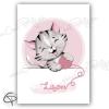 Cadeau de naissance fille originale affiche chaton à personnaliser