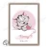 Tableau de naissance chaton personnalisé avec prénom d'enfant