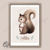 Décoration de chambre d'enfant avec dessin d'écureuil encadré