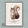 Cadeau de naissance original avec écureuil fait main par ChatPristy
