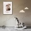 Cadre écureuil en tableau de naissance décoration murale de bébé