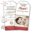 Annonce de naissance papier original pour petite fille réalisé artisanalement